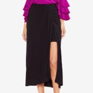 Vince Camuto Split Cotton Jersey Skirt M